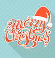 Retro christmas card with long shadow vector