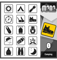 Mono icons camping 1 vector