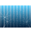 Blue background with white leafs vector