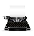 Antique typewriter vector