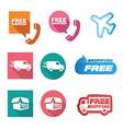 Free shipping icons and buttons pack vector