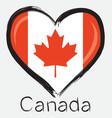 Love canada flag vector