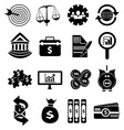Business finance icons set vector