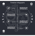 Timeline infographics elements symbols and icons vector