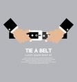 Tie a belt vector