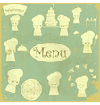 Vintage cover menu with chefs vector