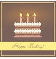 Flat design happy birthday greeting card with vector