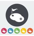 Golf single icon vector