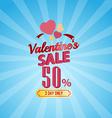 Valentines day sale 50 percent typographic vector