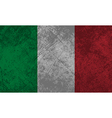 Italian flag grunge vector