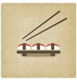 Sushi old background vector