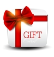 Gift card with red ribbon background vector