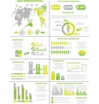 Infographic demographics population 3 yellow vector