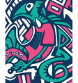 Psychedelic stylized design winter abstract vector