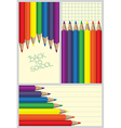 Colored crayons frames vector