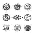 Eagle label icon set vector