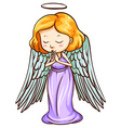 An angel praying vector