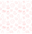 Baby toys cute cartoon set seamless pattern vector