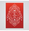 Christmas invitation card - art deco style vector