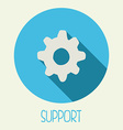 Support icon vector