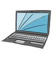 Laptop with blue screen vector