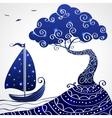 Ship tree vector