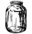 Glass jar vector