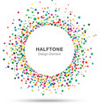 Colorful abstract halftone logo design element vector