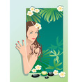 Girl with spa elements vector