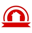 Red real estate symbol vector
