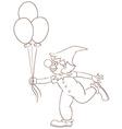 A simple sketch of a clown vector
