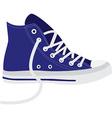 Blue sneakers vector