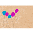 Color baloons on the brown background vector