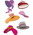 The complete set of female hats vector