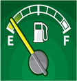 Car gas tank indicator vector