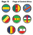 World flags central africa vector