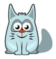 Cartoon cat on white background vector