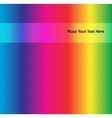 Abstract background of rainbow colored polygons vector
