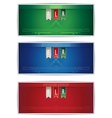 Three belarus vertical banners with ribbons vector