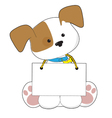 Cute puppy sign vector