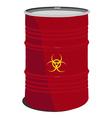 Red barrel toxic vector