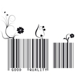 Floral barcode vector