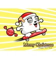 Skateboarding riding santa claus and bomb vector