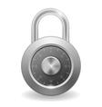 Mettalic security padlock vector