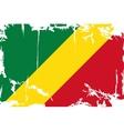 Congo grunge flag vector