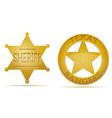 Star sheriff and ranger vector