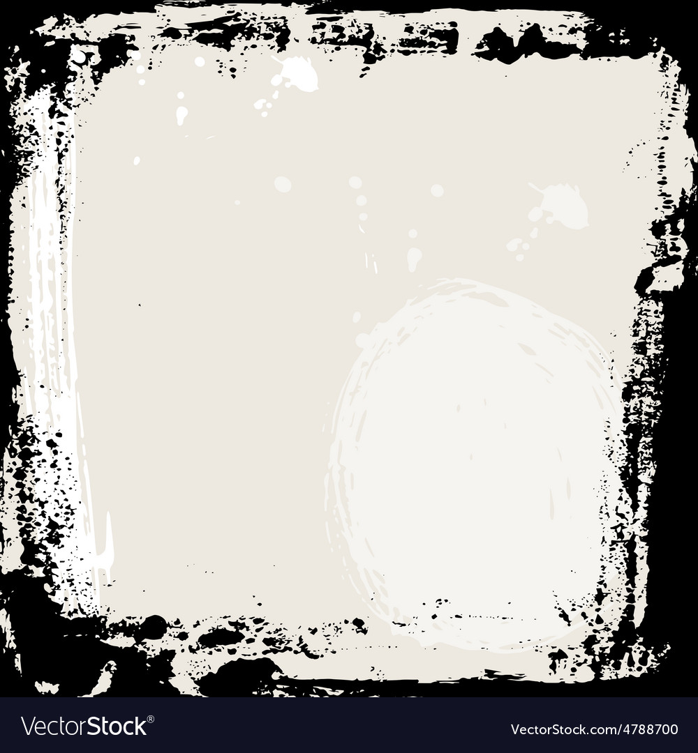 Abstract grunge frame black and beige background vector | Price: 1 Credit (USD $1)