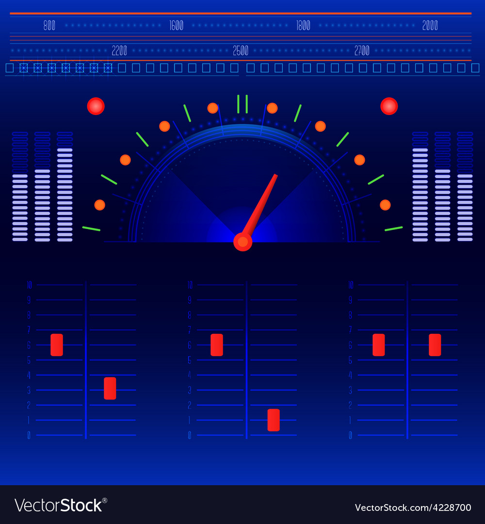 Abstract radio and music panel vector | Price: 1 Credit (USD $1)
