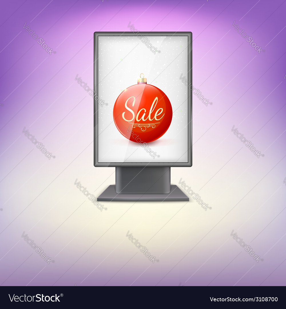 Black lightbox with red christmas tree ball and vector | Price: 1 Credit (USD $1)
