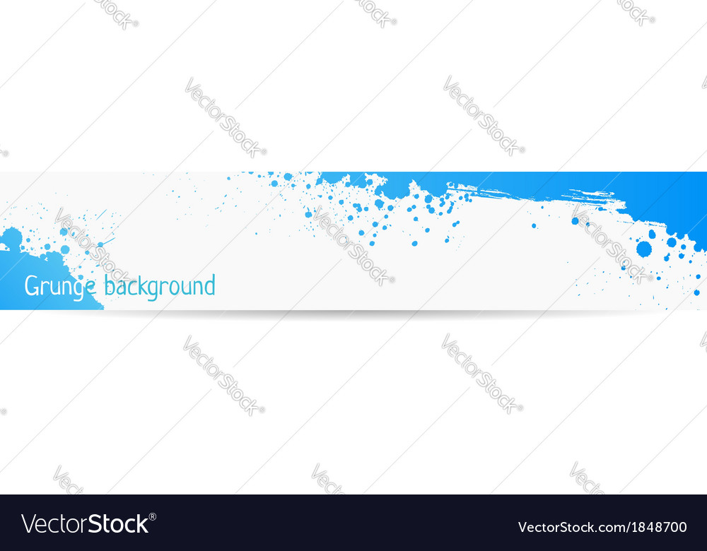 Blue grungy banner vector | Price: 1 Credit (USD $1)